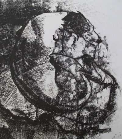 Etched mono print - Rosie 2 by Diana Shepherd